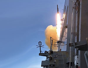 Missile shot up from ship